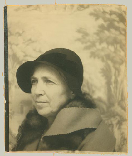 Woman in photobooth
