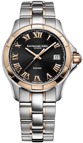 Đồng hồ Raymond Weil Parsifal niềng vàng hồng 18K, mới 100%, đủ hộp, sổ, thẻ.