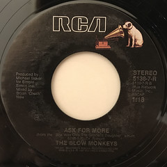 THE BLOW MONKEYS:IT DOESN'T HAVE TO BE THIS WAY(LABEL SIDE-B)