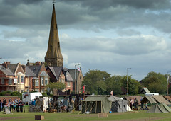 Lytham 1940's Wartime Weekend - tents on the green by the church