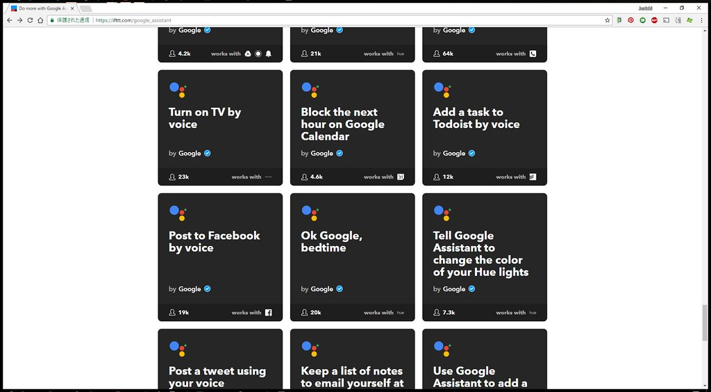 Do more with Google Assistant - IFTTT - Google Chrome 2017-10-24 10.48.15
