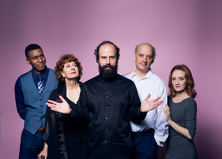 Gabriel Brown, Paula Plum, Brett Gelman, Frank Wood, and Sarah Oakes Muirhead