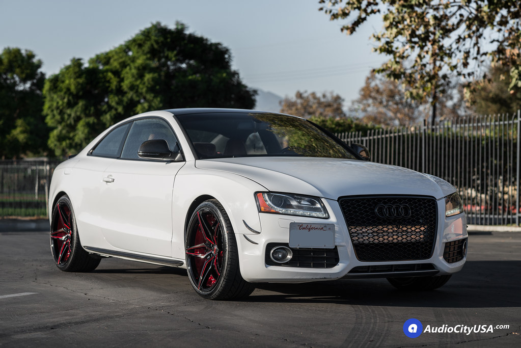 2009 audi s5 on 20 mq wheels 3259 gloss black red accents by audiocityusa on flickr