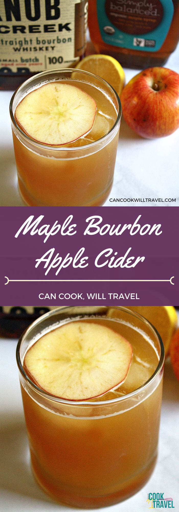 Maple Bourbon Apple Cider Cocktail - Can Cook, Will Travel