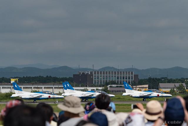 JASDF Chitose AB Airshow 2017 (113) Blue Impluse on the runaway
