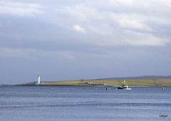 A Boat Approaching Stromness From Graemsay