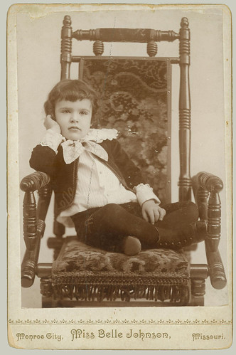 Cabinet Card small boy in chair