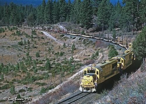 oregoncaliforniaeastern ocerailway oce logtrain logging morrisonknudsen klamathcounty switchback