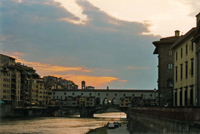 Sunset over Ponte Vecchio