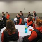 cheerleaders listening to talk (Oct 4, 2017)