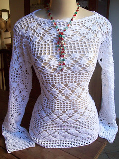 I found this model of crocheted blouse and I was enchanted by this work, see step by step of this beautiful pattern 👍💋😍
