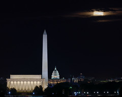 Harvest Moon over Washington DC