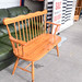 Pine two seater bench E60
