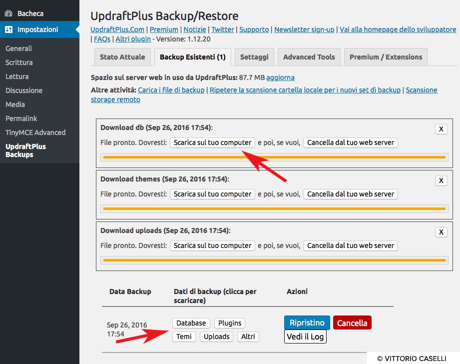 Come fare un backup wordpress 4