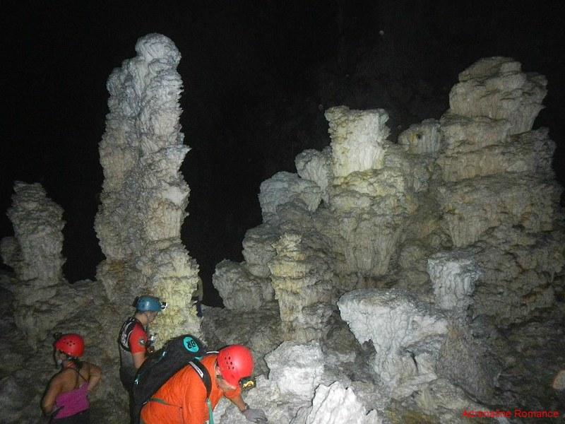 Rare crystaline stalagmites