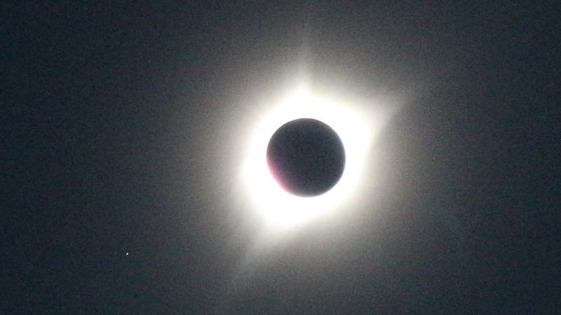 Overexposed view of the Sun's Corona during the Total Solar Eclipse from the summit of Dixie Butte