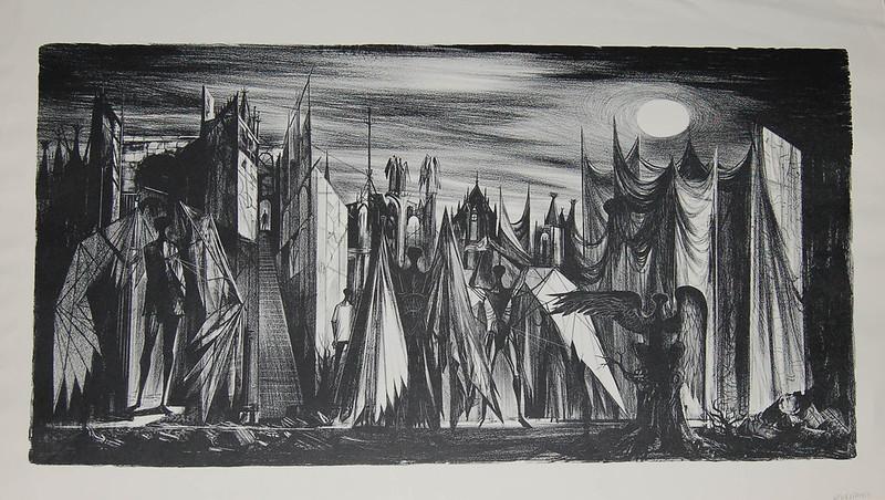 Joseph Mugnaini - Confrontation,  1953