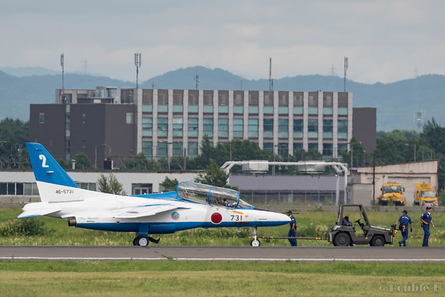 JASDF Chitose AB Airshow 2017 (148) Blue Impluse No.2 towing to the spot