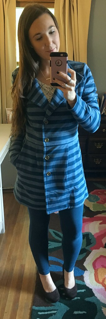 Matilda Jane blue striped Ida jacket
