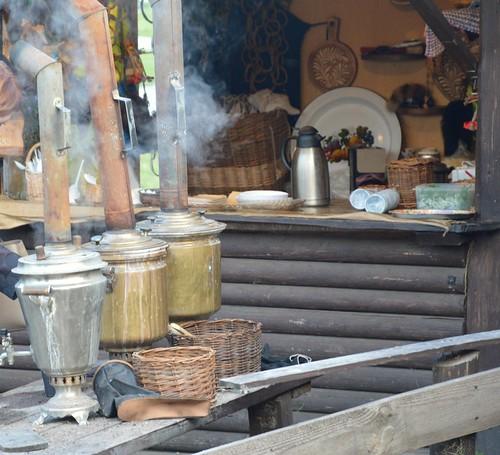 Свияжск, чай из самовара