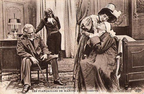 Marialise, Gabriel de Gravone and Henry Krauss in Les Miserables (1913)