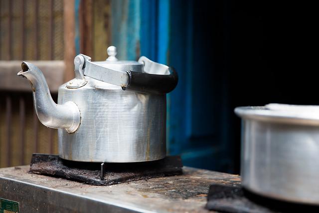 Street kitchen in Varanasi, India.