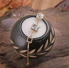Three Stone Swarovski Crystal Bracelet