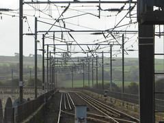 View south of Berwick-upon-Tweed station (18/10/17)
