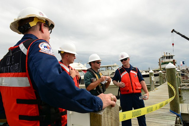 Coast Guard and Local Agencies Remove Vessels Damaged by Hurricane Harvey
