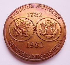 Netherlands-American medal obverse