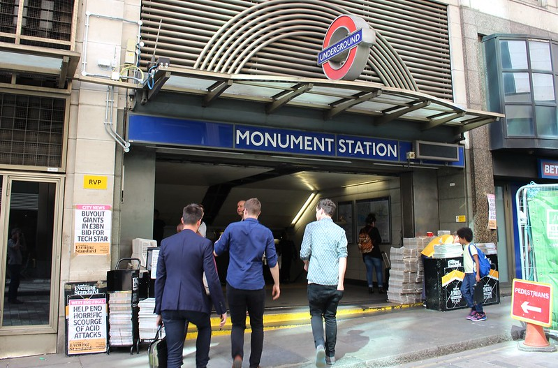 Monument Underground station, London