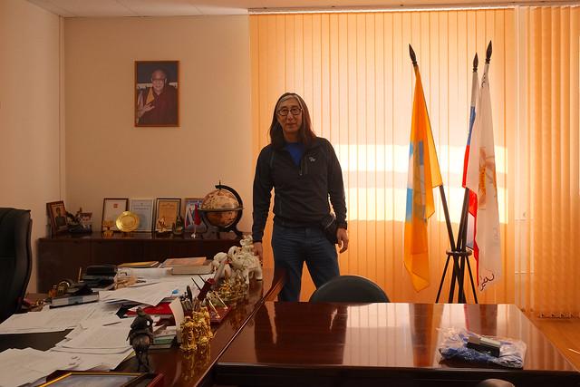 In the rector's office, KGU
