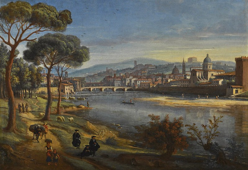 Gaspar van Wittel - Florence, A view of the city from the Cascine