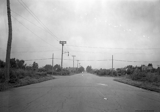 Ville-Émard. Intersection Monk – Raudot. 1943. VM95-Y-1-4-1_3-002. Archives de la Ville de Montréal.