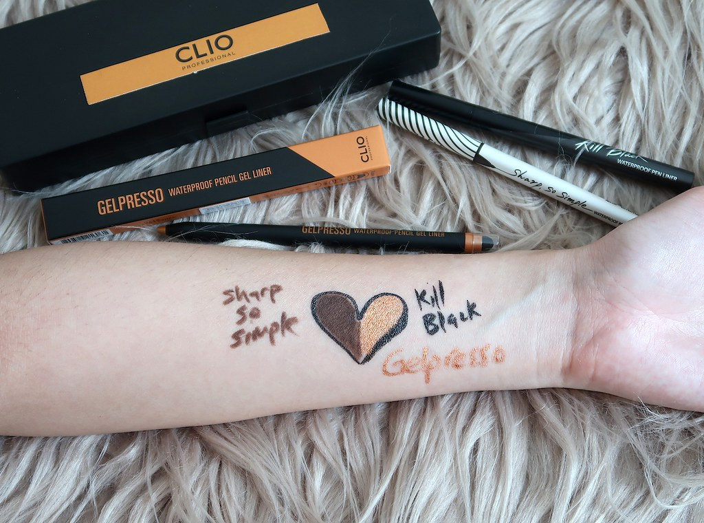 Swatches CLIO Gelpresso, Kill Black, Sharp So Simple 2