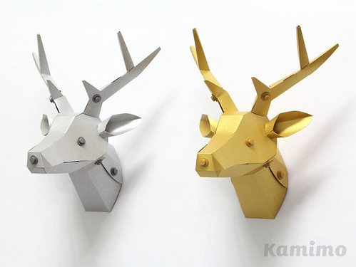 Deer Head Paper Craft Kit from Kamimodel