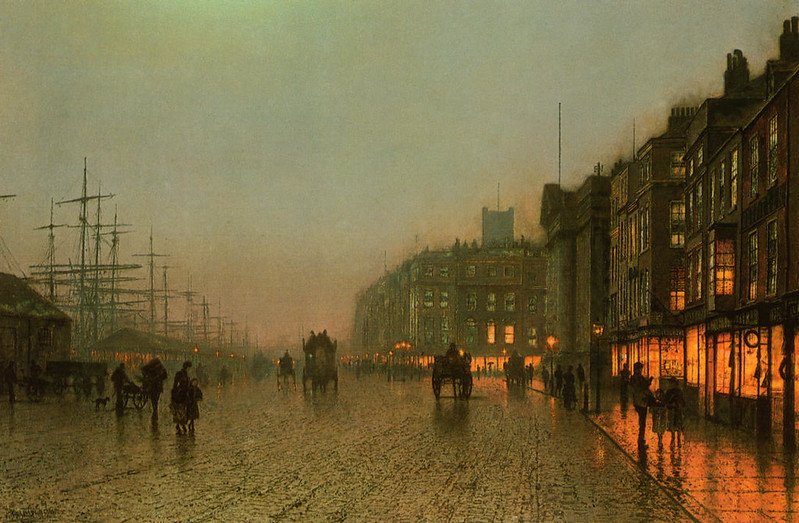 Liverpool from Wapping by John A Grimshaw, 1875
