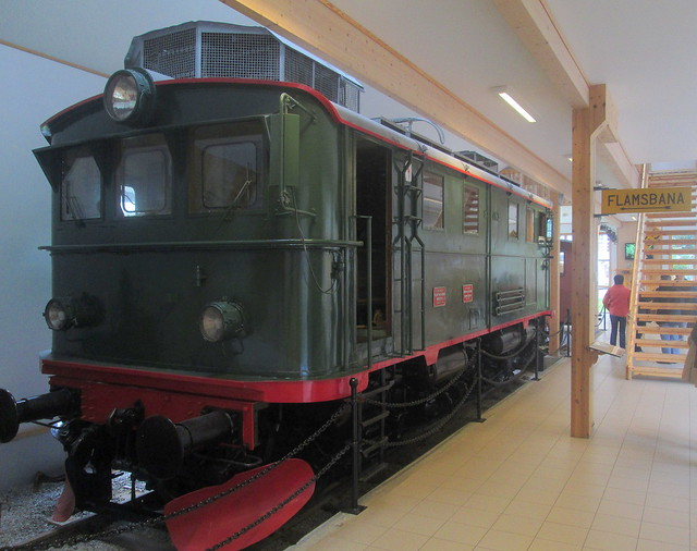 Locomotive in Flåmsbana Museum