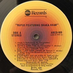 RUFUS FEATURING CHAKA KHAN:RUFUS FEATURING CHAKA KHAN(LABEL SIDE-A)