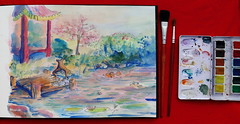 Pond in Watercolor