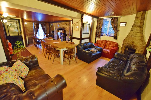 The Star Bunkhouse lounge area in Brecon Beacons