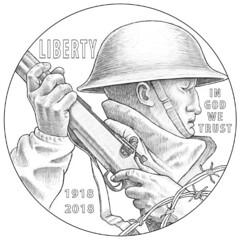 World War I commemorative design obverse
