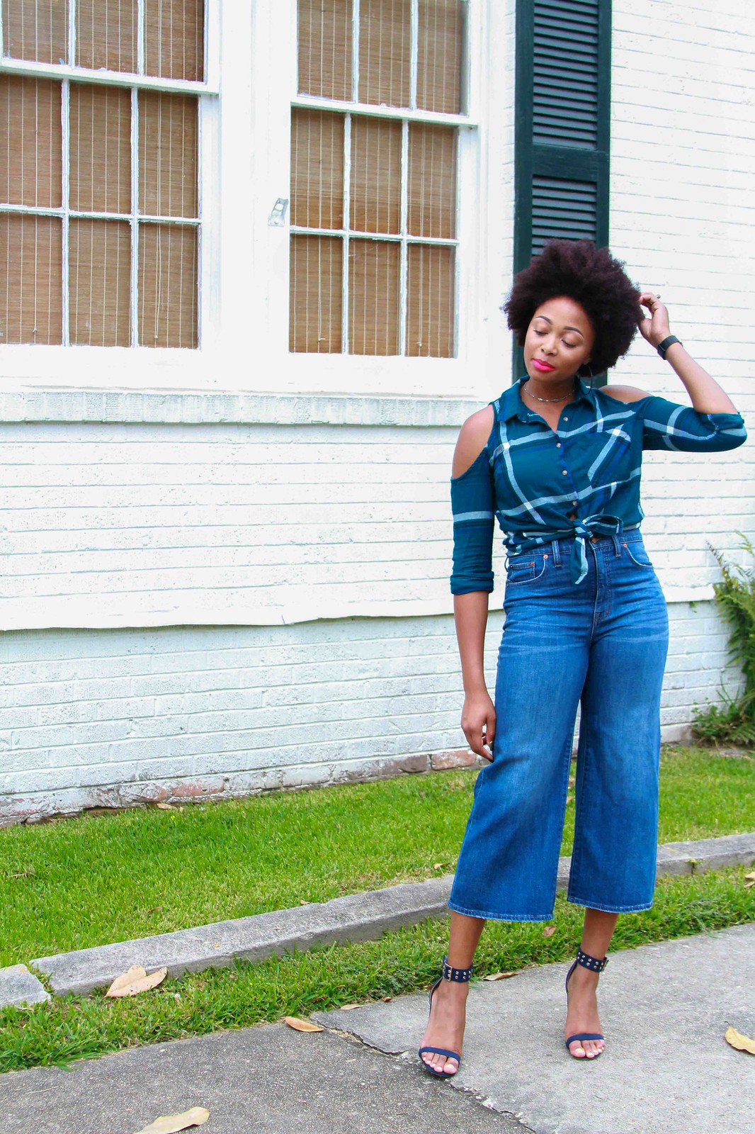 how to style denim culottes, the beauty beau