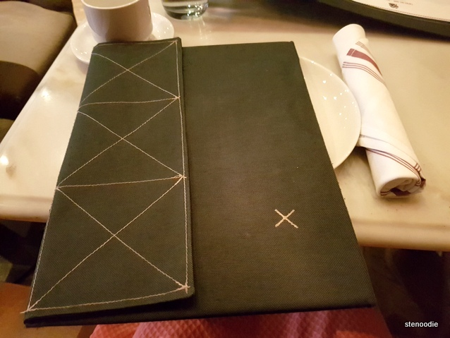 Patria cloth menu cover