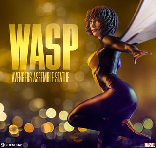 第一位女英雄加入該陣容!! Sideshow Collectibles Avengers Assemble 系列【黃蜂女】Wasp 1/5 比例全身雕像作品