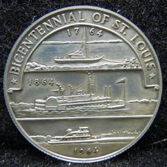 1964 St. Louis Bcentennial medal reverse