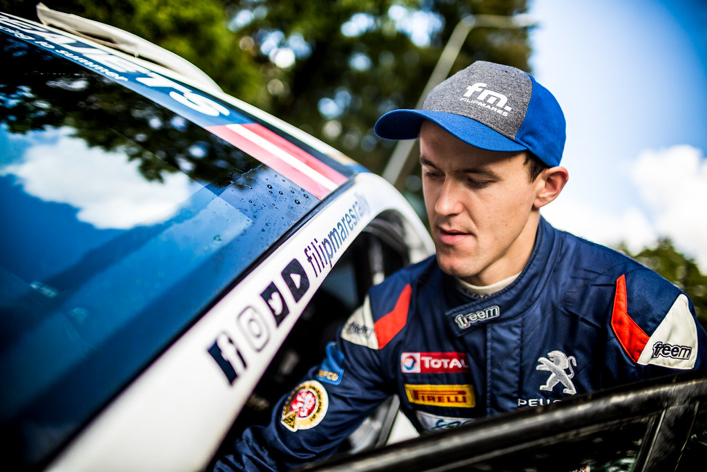 Mares Filip, ACCR Czech Team, Peugeot 208 R2 ERC Junior U27 ambiance portrait during the 2017 European Rally Championship ERC Liepaja rally,  from october 6 to 8, at Liepaja, Lettonie - Photo Thomas Fenetre / DPPI
