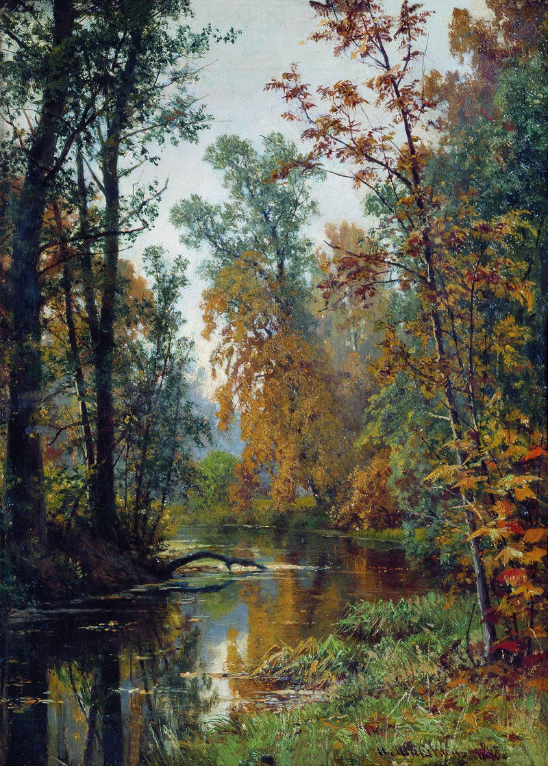 Autumn in Pavlovsk by Ivan Ivanovich Shishkin, 1888