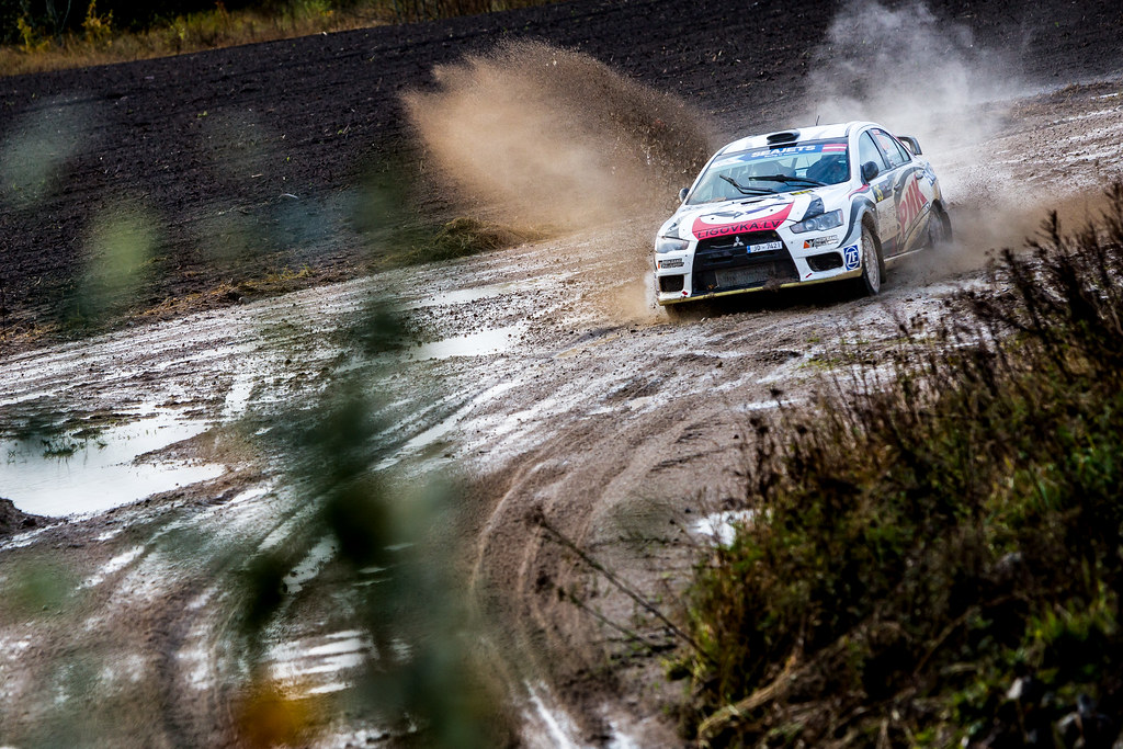 35 Mikhailov Alexander and Kokins Normunds, Neiksans Rally Sport, Mitsubishi Lancer Evo X action during the 2017 European Rally Championship ERC Liepaja rally,  from october 6 to 8, at Liepaja, Lettonie - Photo Thomas Fenetre / DPPI