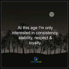 At this age...